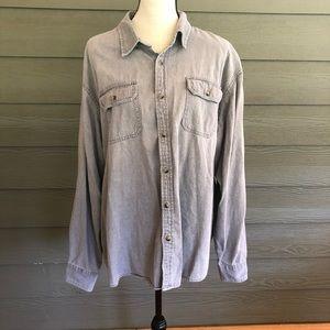 Wrangler Mens 2XL XXL Cowboy Western Shirt Cotton